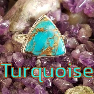 Earth Art hand crafted artisan Jewelry - AZ Turquoise Ring Sterling Silver NEW Artisan